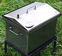 Домашняя коптильня для горячего копчения домик с термометром 400х300х310, фото 2