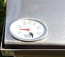 Домашняя коптильня для горячего копчения домик с термометром 400х300х310, фото 4