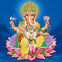 Бог Ганеша – слон, виконуючий бажання Схема вишивки бісером