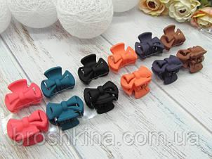 Крабики для волос 3.5 см каучук цветные 12 шт/уп.
