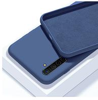 Чехол Silicone case full для Realme 6 PRO синий (реалми 6 про)