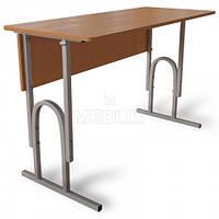 Аудиторный стол двухместный П-образный регулируемый по высоте, фото 1