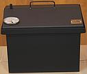 Домашняя коптильня для горячего копчения домик окрашенная с термометром 400х300х310, фото 3