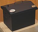 Домашняя коптильня для горячего копчения домик окрашенная с термометром 400х300х310, фото 2