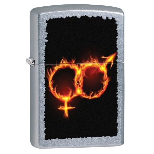 Зажигалка 28446 207 MAN WOMAN FIRE Zippо