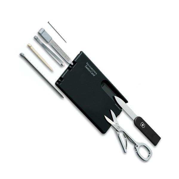 Нож Swisscard, 82*54*4мм/10предм/черн/ножн/ручка Vx07133
