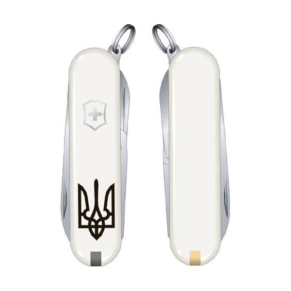 Нож Classic SD Ukraine 58 мм/7предм/белый/Тризубец, Vx06223.7R1