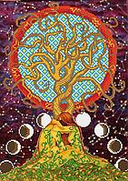 Золотое дерево Жизни  . Схема вышивки бисером .