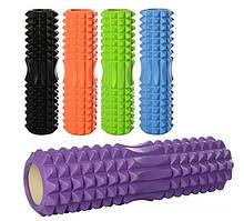 Массажный ролик (роллер, валик) для йоги MS 1843, 45*14см, разн. цвета
