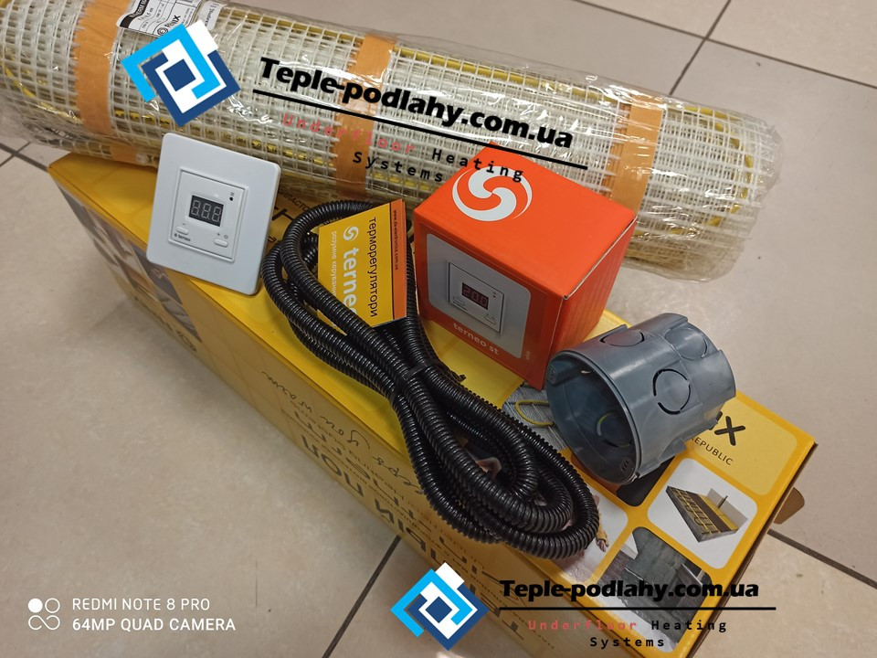 Нагревательный мат In-Therm 1580w (7,9 м.кв.) c цифровым Terneo ST