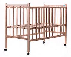 Детская кроватка Наталка простая ясень светлый без лака