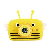 Дитячий цифровий фотоапарат Smart Kids 20 Мп (з фронтальною камерою) жовтий