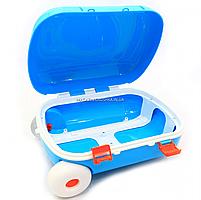 Детский чемодан для игр Технок, голубой, 25х16х35 см (6108), фото 6