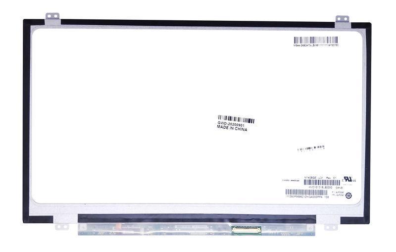 "Матрица для ноутбука 14,0"", Slim (тонкая), 40 pin (снизу справа), 1366x768, Светодиодная (LED), крепления"