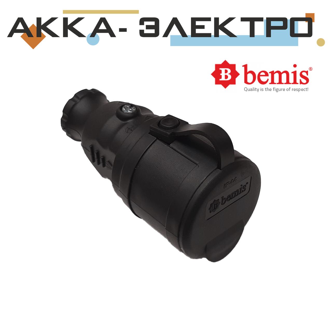 Розетка каучуковая переносная 220В 16А BEMIS (BK1-1402-2311)
