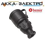 Розетка каучуковая переносная 220В 16А BEMIS (BK1-1402-2311), фото 3