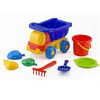 "Машина ""Пчёлка"" №3: машинка, ведёрко, сито, лопатка и грабельки (ЛГ2) и три пасочки (П2)"
