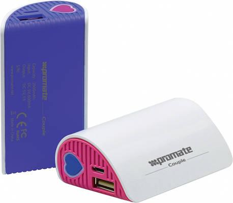 Составной универсальный аккумулятор Promate Couple White
