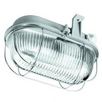 Светильник НПП серый/овал 100W IP44 OVAL