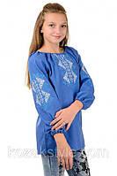 Вишиванка для дівчинки Україночка блакитна
