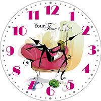 Часы настенные Леди МДФ 28см