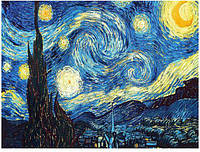 "Алмазная вышивка мозаика Ван Гог ""Звездное небо"" 40 на 50 см, фото 1"