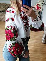 """Блузка нарядна """"Червоні квіти"""""""