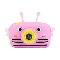 Дитячий цифровий фотоапарат Smart Kids 20 Мп (з фронтальною камерою) рожевий