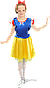 Детский карнавальный костюм Белоснежка код 9218