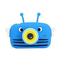 Дитячий цифровий фотоапарат Smart Kids 20 Мп. (з фронтальною камерою) блакитний