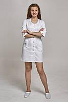 Женский медицинский халат с вышивкой «Сова»