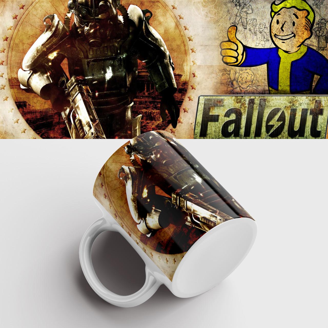 Кружка с принтом Fallout. Фоллаут. Чашка с принтом. Чашка с фото
