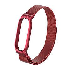Ремешок Armorstandart Milanese Magnetic Band для Xiaomi Mi Band 5 Red (ARM56850)