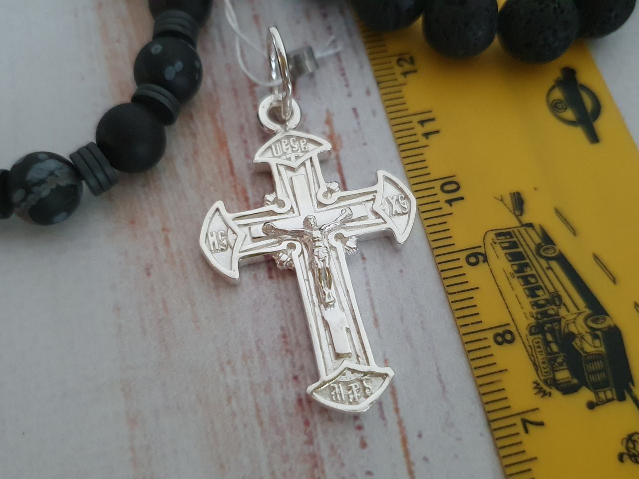 Серебряный православный крестик с распятием. Вес 7,9 гр. 925 проба