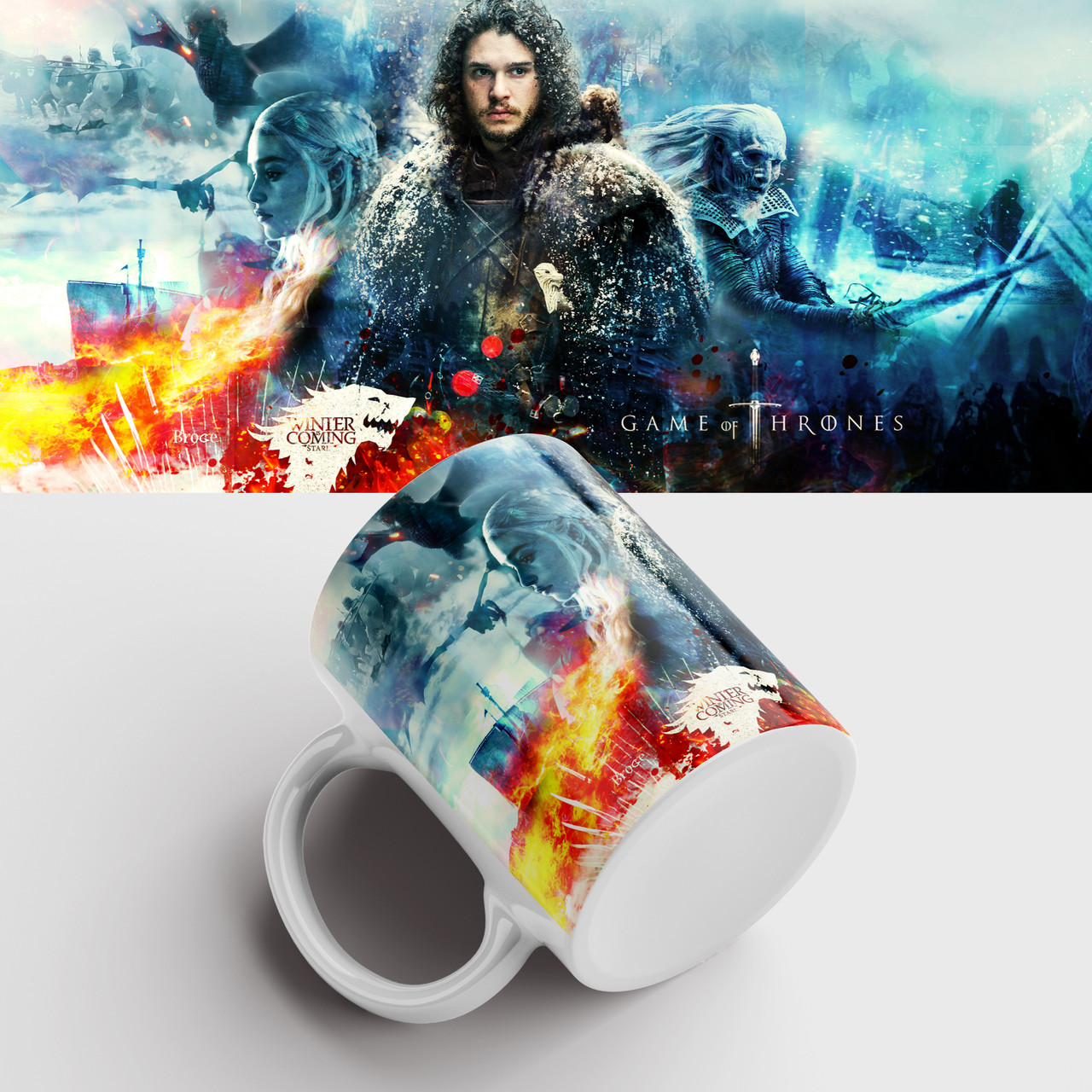 Чашка з принтом Гра престолів. Гра Престолів. Game of Thrones. Чашка з принтом
