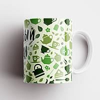 Кружка с принтом. Чашка с принтом Серийный упийца чая. Чашка с фото, фото 1