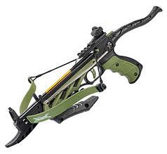 Арбалет пістолетного типу Man Kung TCS1 Alligator (довжина: 508мм, сила натягу: 18кг), зелений