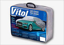 Тент Легковой автомобиль M серый с подкладкой PEVA+PP Cotton (432х165х119) Vitol