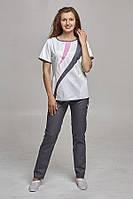 Женский медицинский костюм с зауженныии брюками. ( 5 расцветок)