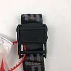 Ремень Пояс Off-White Original Belt Офф Вайт 150 см Черный с черной пряжкой, фото 3