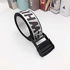 Ремень Пояс Off-White Original Belt Офф Вайт 150 см Серебряный с черной пряжкой, фото 3
