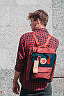 Городской Рюкзак Fjallraven Kanken Classic 16 л Канкен Бордово-темно-синий, фото 6