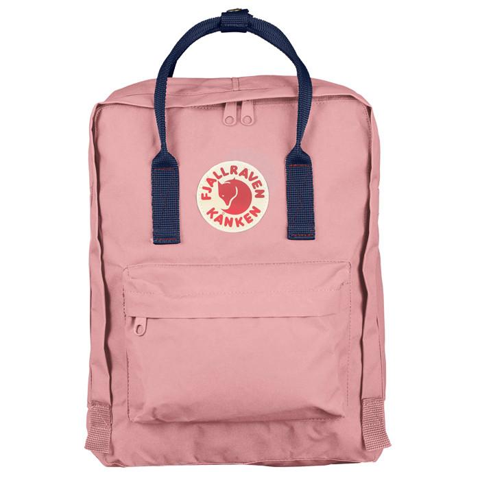 Городской Рюкзак Fjallraven Kanken Classic 16 л Розовый Персик с темно-синей ручкой