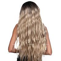 85 см! Длинный парик из искусственных волос Joyce AT без челки, термоволосы, цвет блондин