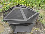 Кришка-іскрогасник для 6-гранною вогнищевої чаші, 70 см, фото 2