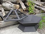 Кришка-іскрогасник для 6-гранною вогнищевої чаші, 70 см, фото 4