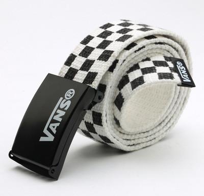 Ремень Пояс Vans Belt в клетку 100 см Черно-Белый