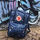 Городской Рюкзак Fjallraven Kanken Classic Art 16 л Blue Fable темно-синий, фото 5