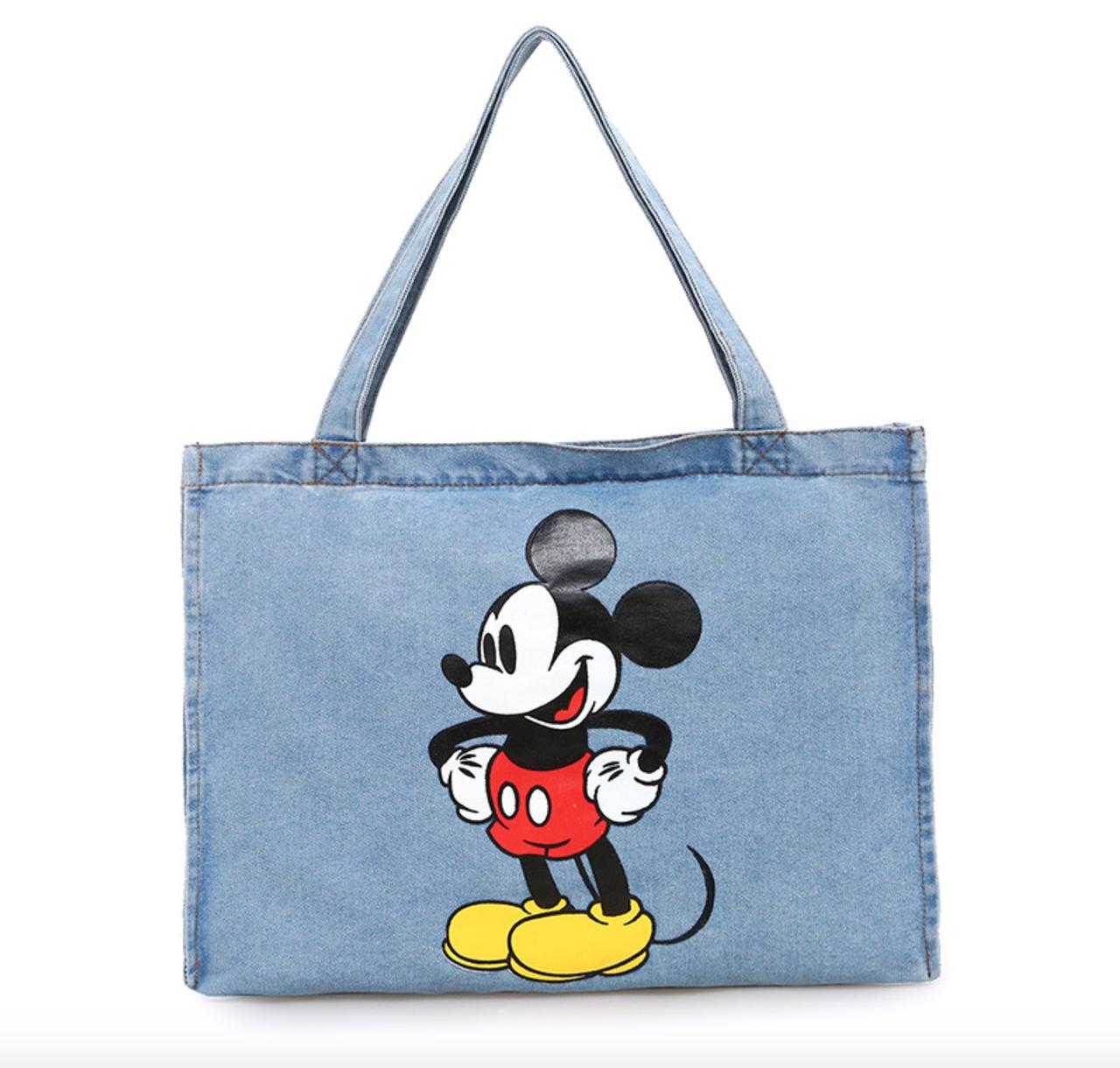 Тканевая Эко Сумка Шоппер City-A Mickey Maus с Микки Маусом Джинс