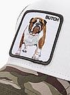 Кепка Бейсболка Тракер с сеткой Goorin Brothers Animal Farm Butch с Бульдогом Камуфляж Хаки, фото 4